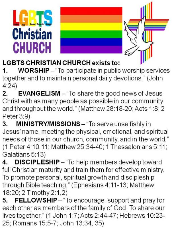 THE LGBTS CHRISTIAN CHURCH PURPOSE