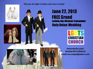 June 22 Free Grand Same Sex Wedding invitation