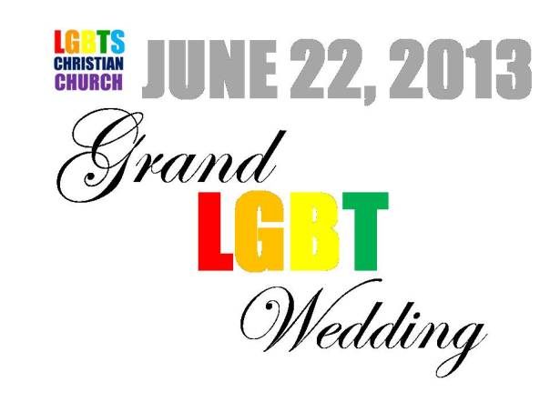 GRAND LGBT WEDDING. JUNE 22, 2013